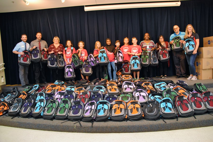 McVay Elementary School Receives 250 Colorful Book Bags from ...
