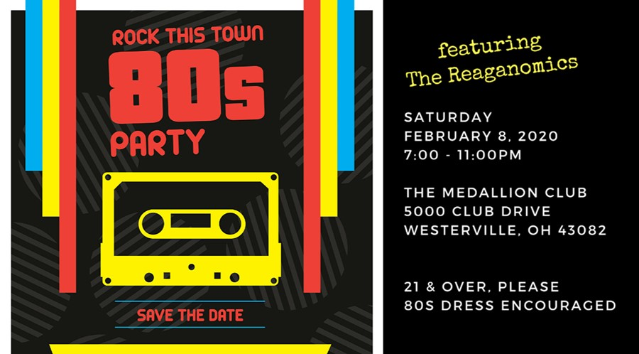 Rock This Town 80s Party slated for February 8, 2020
