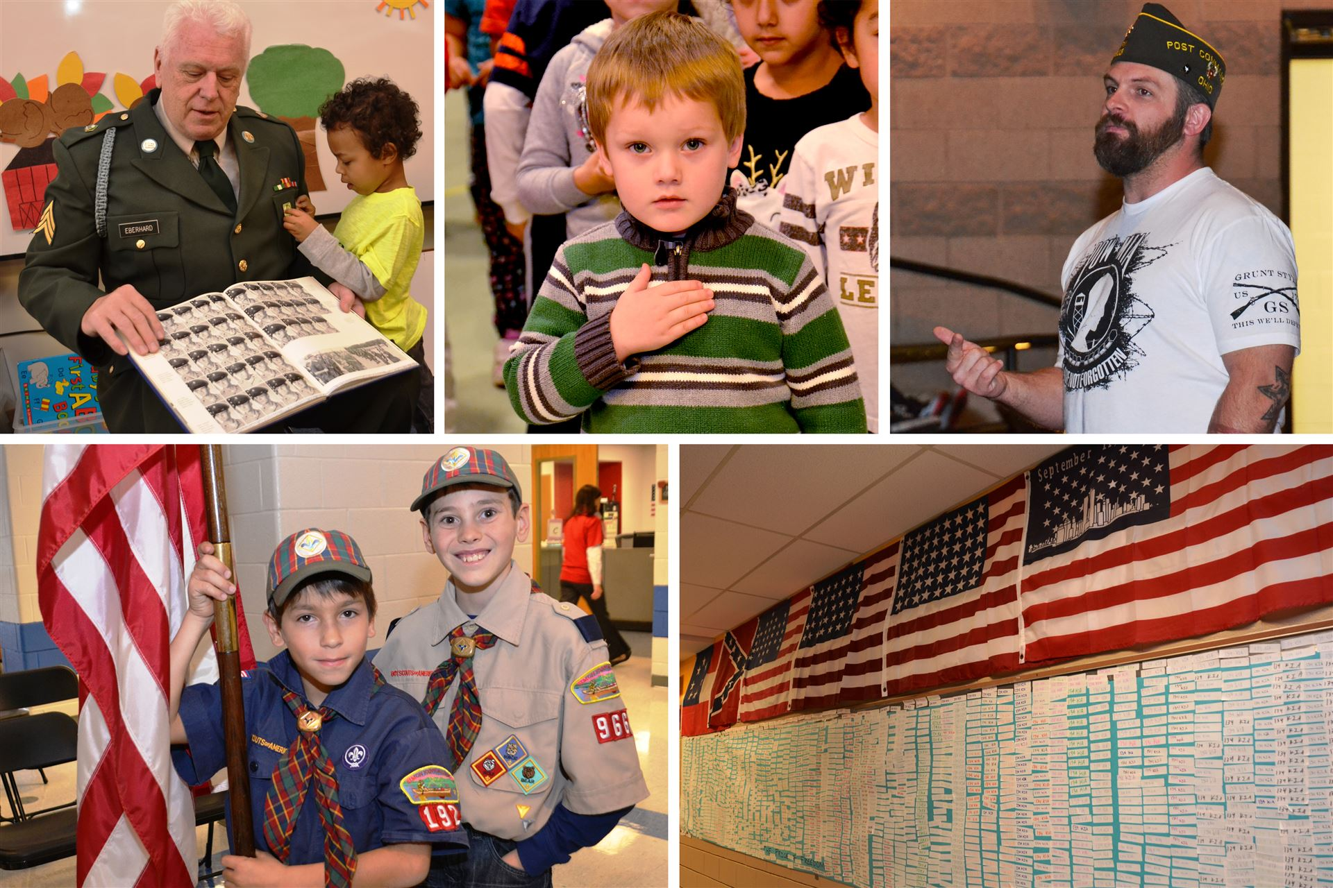 Veterans are Honored Throughout School District on November 11