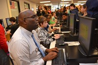Walnut Springs Assistant Principal Challenges Students to Keyboarding Contest