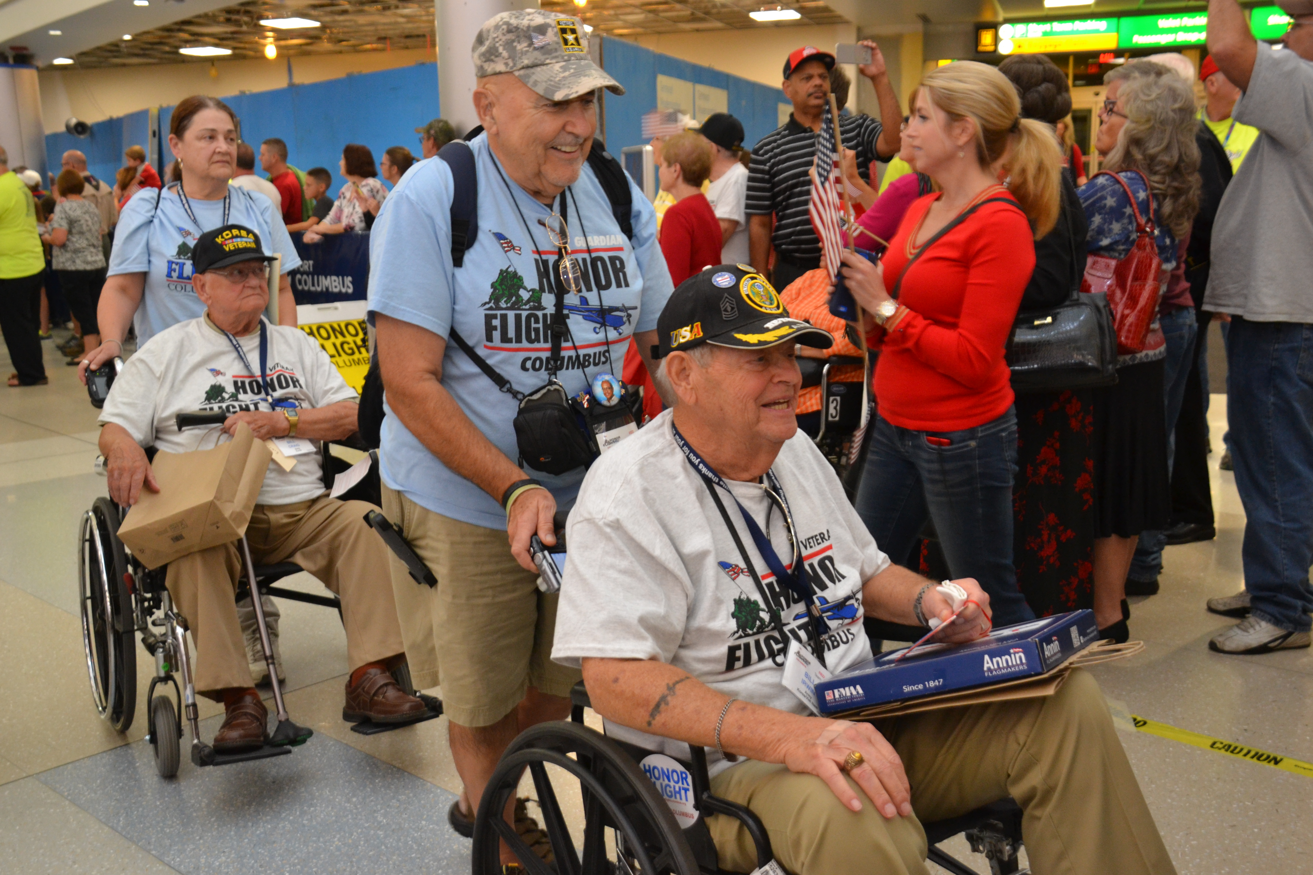 Veterans Return from Washington D.C. to a Much Deserved Hero's Welcome Home