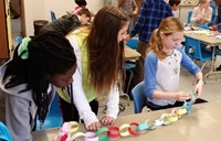 Walnut Springs Students Complete Pi Day Chain Challenge