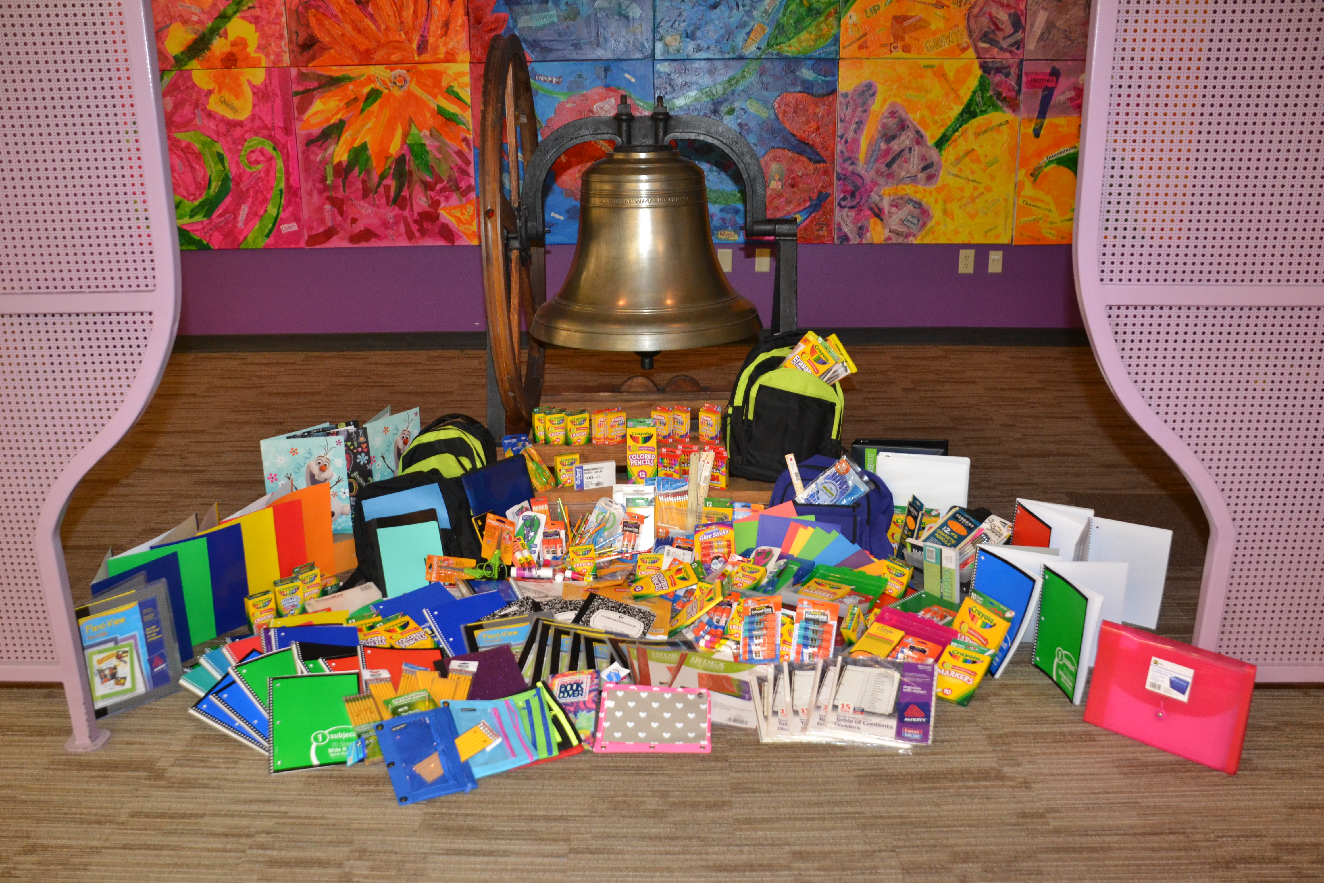 Early Learning Center Staff Donates School Supplies to Pupils in Need
