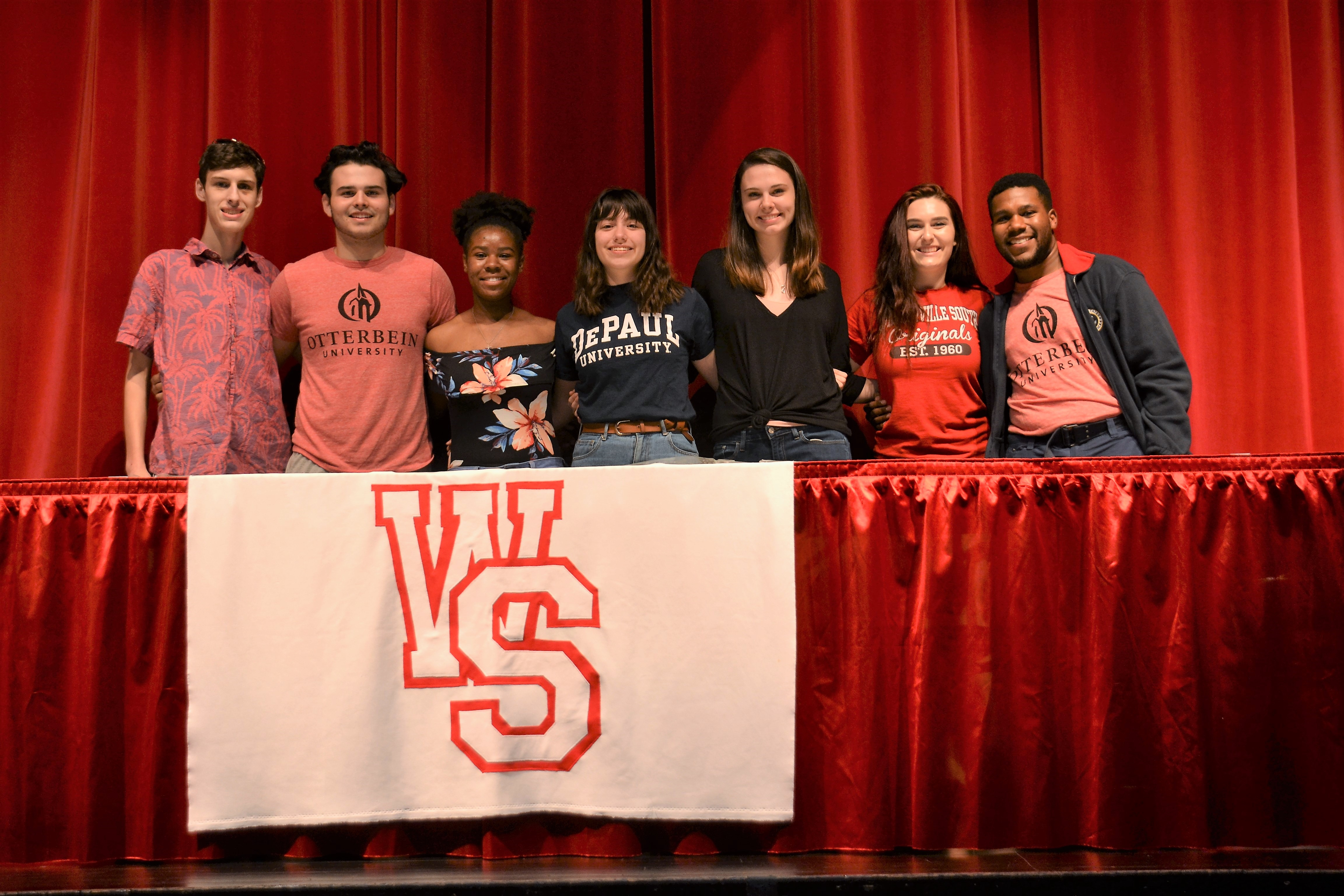 Westerville South High School Arts Signing Day Participants