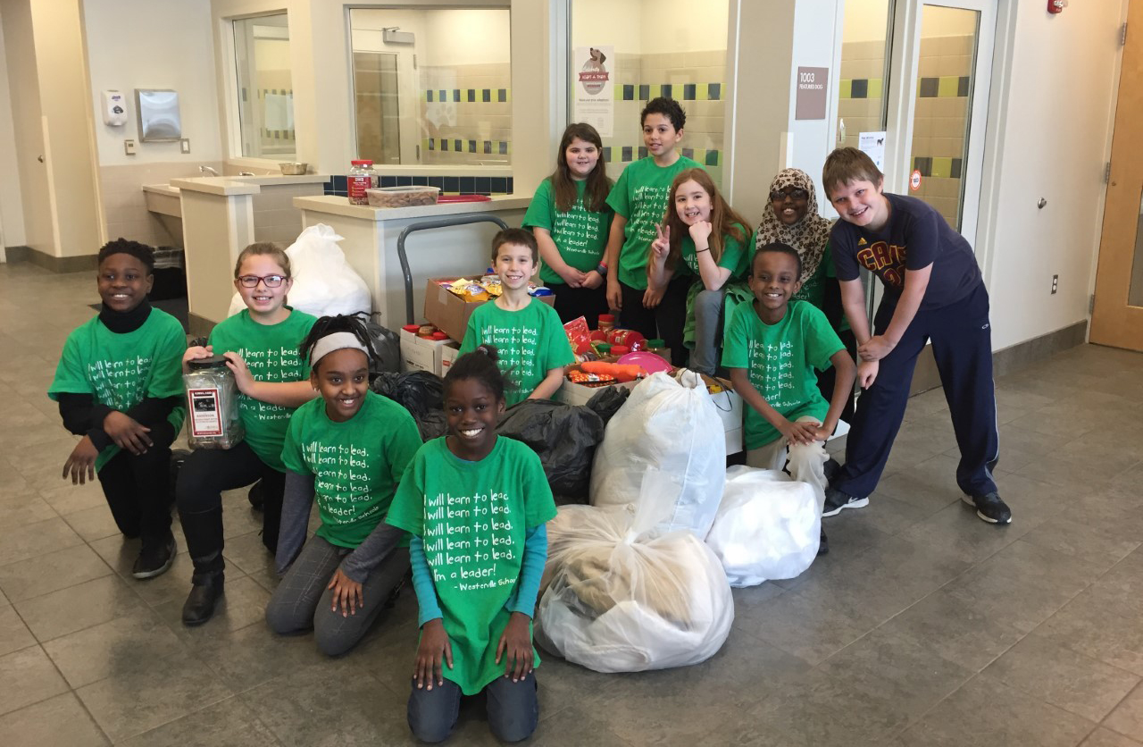 Wilder Elementary School Leadership Summit students visited the Franklin County Dog Shelter