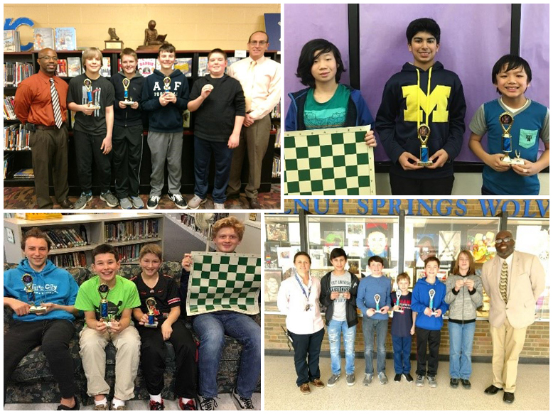 Middle School District Chess Tournament Representatives