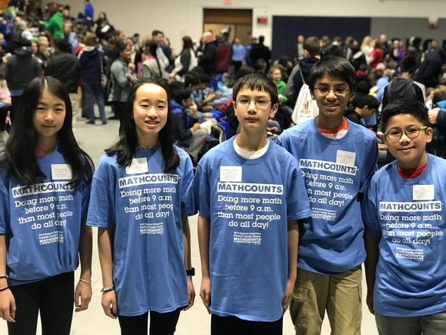 The Genoa Middle School Mathcounts team