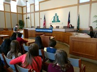 Mock Trial teams in Westerville City Council Chambers