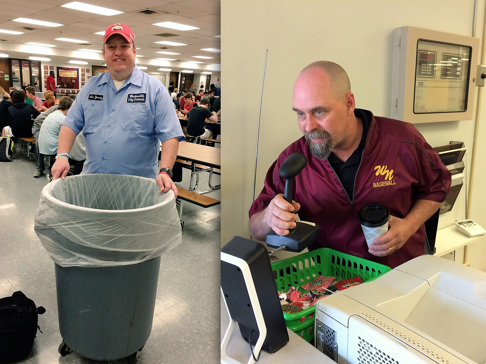 Principal Kurt Yancey and Head Custodian John Edwards
