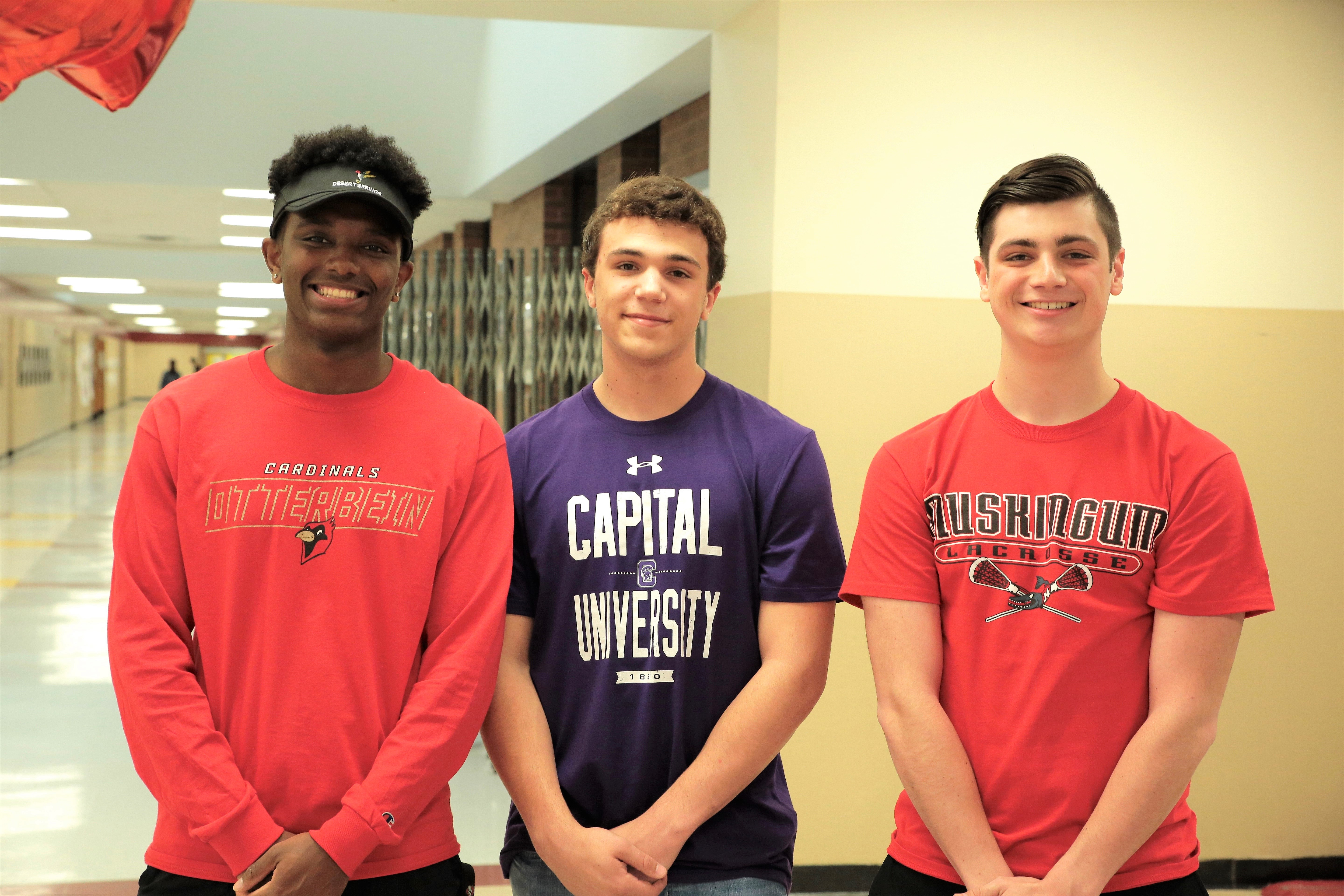 Picture of athletes who signed letters of intent