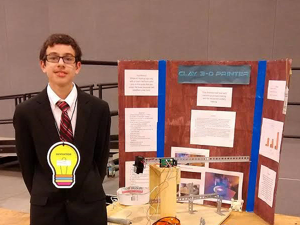 Westerville South High School student Leo Fagge