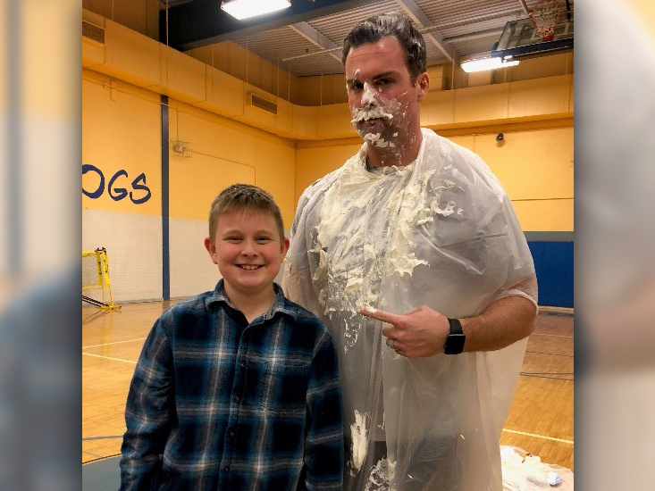 Pie in face