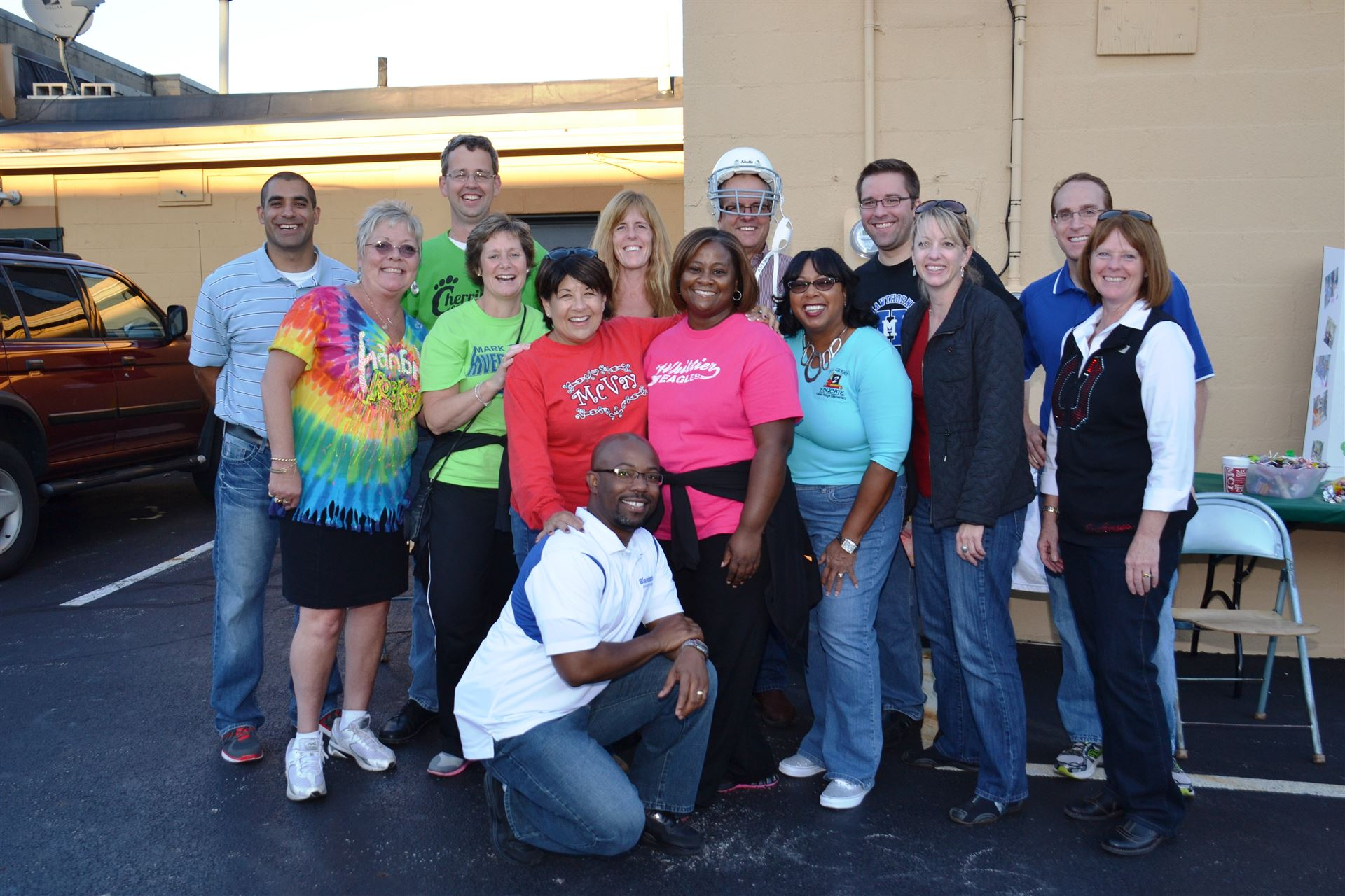 Principals and assistant principals pose at the School Daze Fourth Friday event
