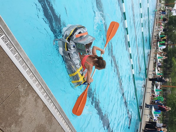 Walnut springs middle schoolers compete in boats made of - Highland park swimming pool westerville oh ...