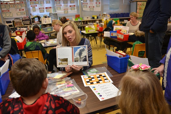 Family Literacy Night was popular at Hawthorne Elementary.