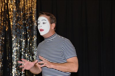 The highlight of Young Authors Day at Fouse Elementary School was a performance conducted by classically trained Mime artist Tom Johnson.