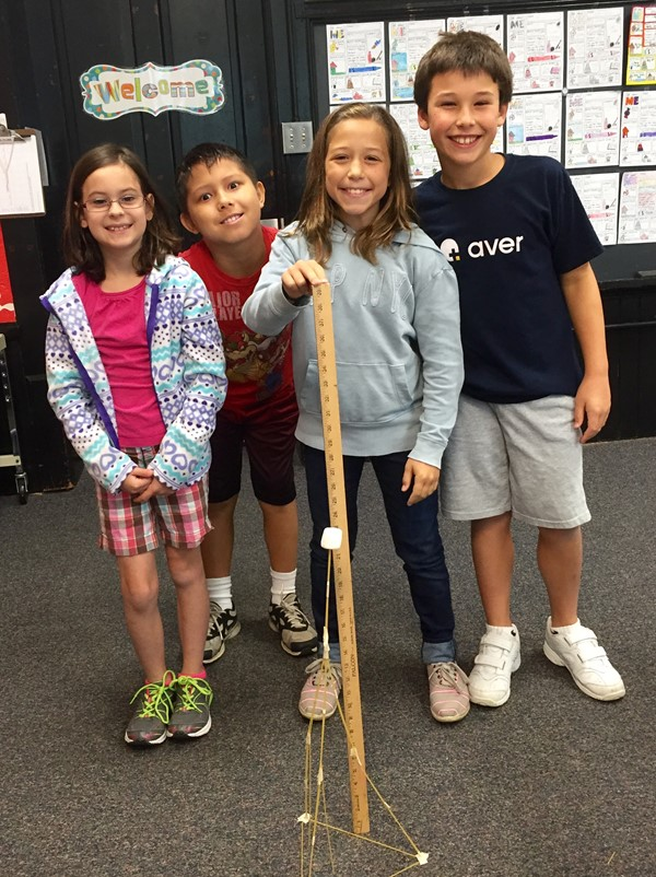 Calendar Activities For Elementary Students : Marshmallows and spaghetti build better teams at emerson