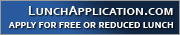 Apply for Free or Reduced lunch via LunchApplication.com