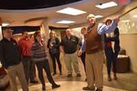 Educators from other school systems tour the Westerville City School District's Academic Enrichment Center