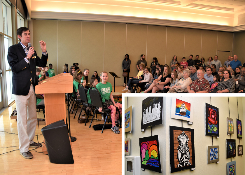 Superintendent Dr. John Kellogg addressed the standing-room-only audience