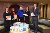 Sunrise Rotary Donating Books and Money to Westerville School District