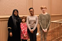 Westerville City School District honorees at the community Martin Luther King, Jr. Breakfast
