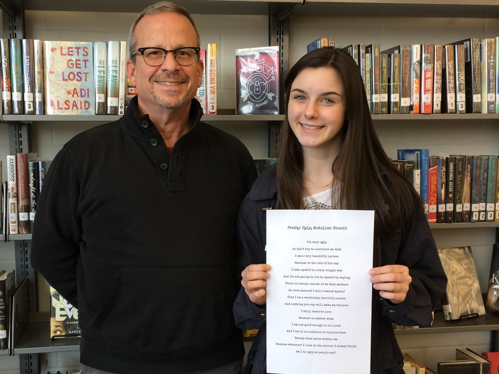 Morgan Meissner is pictured with her Humanities teacher, Jim Grannis.