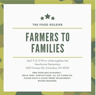 Farmers to Families food distribution at Hawthorne Elementary on April 11