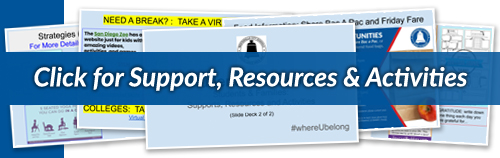 Click for Support, Resources and Activities